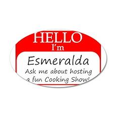 Esmeralda 35x21 Oval Wall Decal