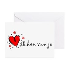 """I Love You"" [Dutch] Greeting Cards (Pk of 10)"