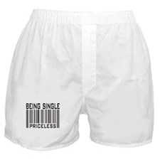 Being Single Priceless Dating Boxer Shorts