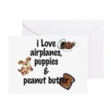 I Love Airplanes Greeting Cards (Pk of 10)