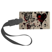off-with-her-head_9x12 Luggage Tag