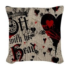 off-with-her-head_9x12 Woven Throw Pillow