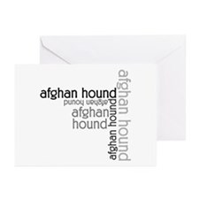 Afghan Hound Classic Lover Greeting Cards (Pk of 1