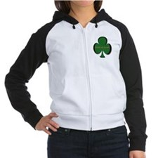 irish at heart hat Women's Raglan Hoodie