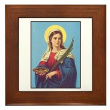 St. Lucy Framed Tile