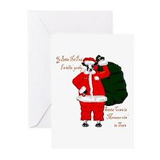 Santa Cows (Santa Claus) Greeting Cards (Pk of 20)