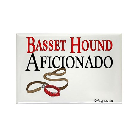 Basset Hound Aficionado Rectangle Magnet (100 pack