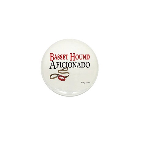 Basset Hound Aficionado Mini Button (100 pack)