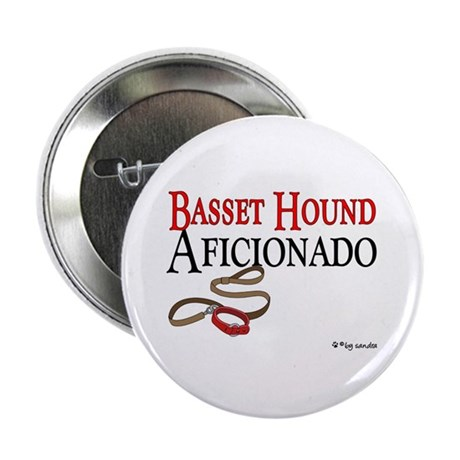 "Basset Hound Aficionado 2.25"" Button (100 pack)"