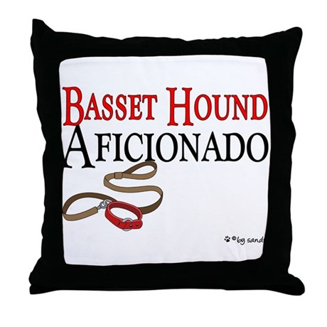 Basset Hound Aficionado Throw Pillow