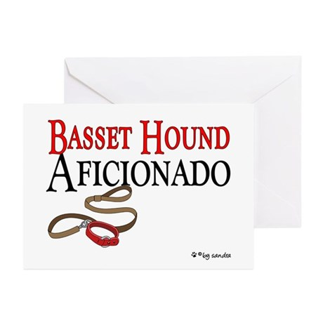 Basset Hound Aficionado Greeting Cards (Package of
