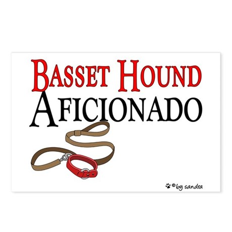 Basset Hound Aficionado Postcards (Package of 8)