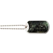 haunted_house_big Dog Tags