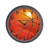 Basketball Room Decor Wall Clock