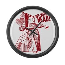 off-with-her-head-vintage_light Large Wall Clock
