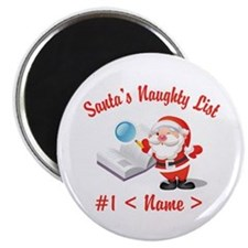 Personalized Santa's Naughty List Magnet