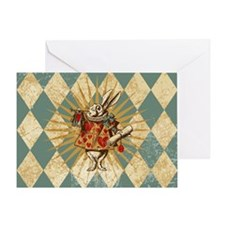 White Rabbit Vintage Greeting Card