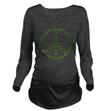 stpattys001drk Long Sleeve Maternity T-Shirt