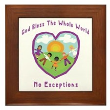 God Bless The Whole World Framed Tile