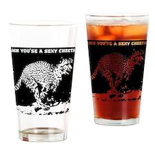 sexy cheetah Drinking Glass