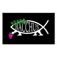 Bacchus Fish Rectangle Decal