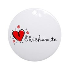"""I Love You"" [Bulgarian] Ornament (Round)"
