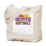 Fastpitch Fire Tote Bag