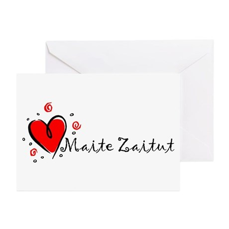 """""""I Love You"""" [Basque] Greeting Cards (Pk of 10"""