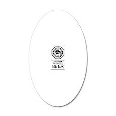 Dharma Beer 20x12 Oval Wall Decal