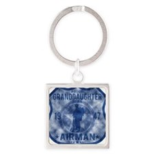 GRANDDAUGHTER Square Keychain