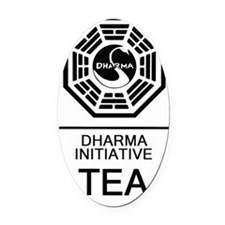 Dharma Tea Oval Car Magnet