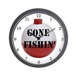 GONE FISHING Home Decor Wall Clock
