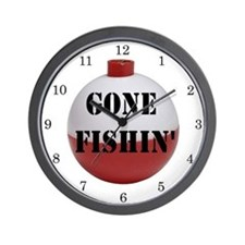 GONE FISHING Home Decor Wall Clock