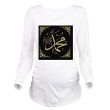 A_Mhd_gold_filla_on_ Long Sleeve Maternity T-Shirt