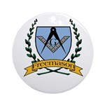 Masonic Freemason Ornament (Round)
