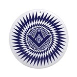 Masonic Crystal Starburst Ornament (Round)