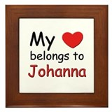 My heart belongs to johanna Framed Tile