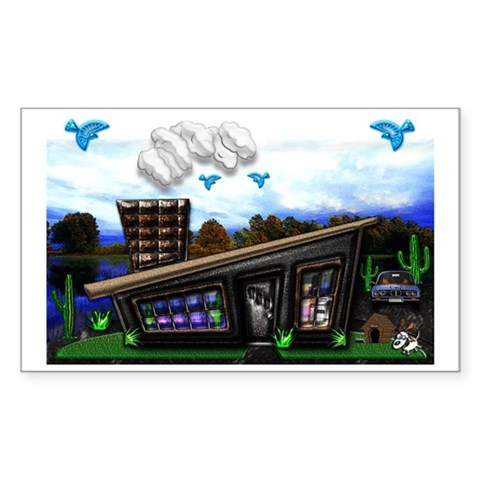 Home sweet home Mini Poster, R Sticker (Rectangle)