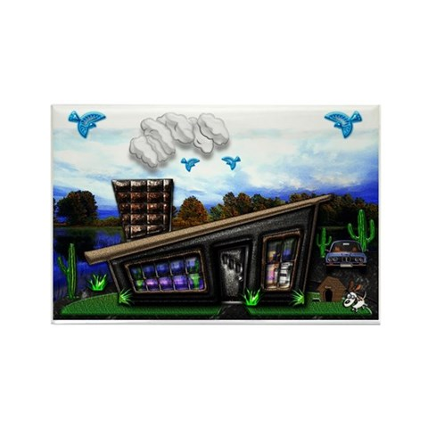 Home sweet home Large Poster, Rov Rectangle Magnet