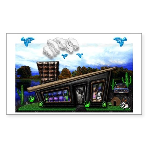 Home sweet home Large Poster, Sticker (Rectangle)