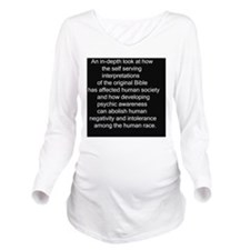 2-Psychic Back Cover Long Sleeve Maternity T-Shirt