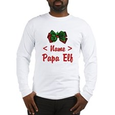 Personalized Papa Elf Long Sleeve T-Shirt