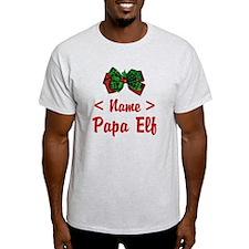 Personalized Papa Elf T-Shirt