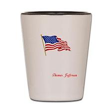 thomas jefferson a(blk) Shot Glass