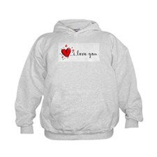 """I Love You"" [English] Hoodie"