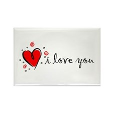 """""""I Love You"""" [English] Rectangle Magnet (10 pack)"""