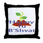 Happy Tu B'Shvat Throw Pillow