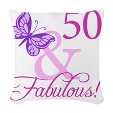 Fabulous_Plumb50 Woven Throw Pillow