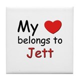 My heart belongs to jett Tile Coaster