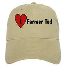 I Love Farmer Ted Baseball Cap